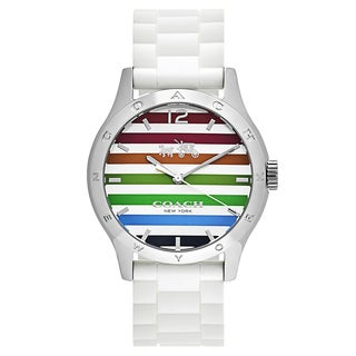 Coach Maddy Women's 14502512 Multicolor Rubber Strap Watch