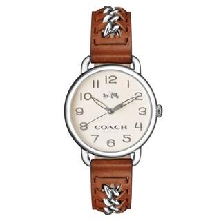 Coach Women's Delancey 14502273 Brown Leather Strap Watch