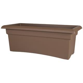 Bloem Brown Plastic 26-inch Veranda Deck Box Planter