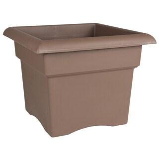 Bloem Veranda Chocolate Brown Resin 18-inch Deck Box Planter