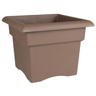 Bloem Veranda Chocolate Plastic 14-inch Deck Box Planter