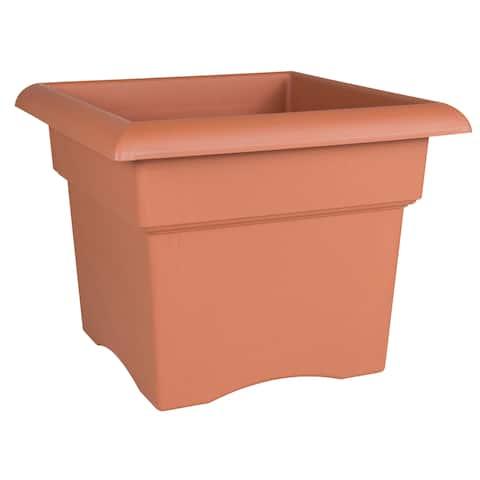 Bloem Orange Terra Cotta 14-inch Veranda Deck Box Planter