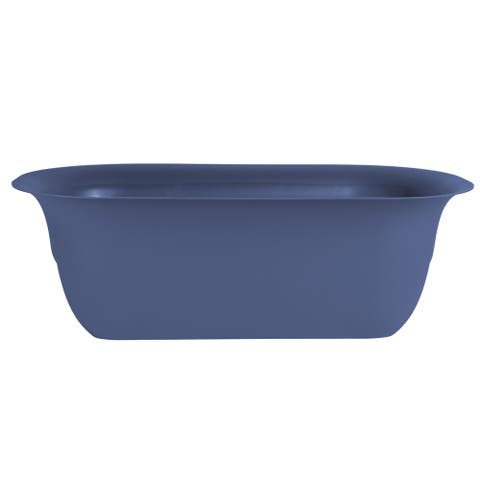 Bloem Modica Blue Plastic 24-inch Deck Rail Planter