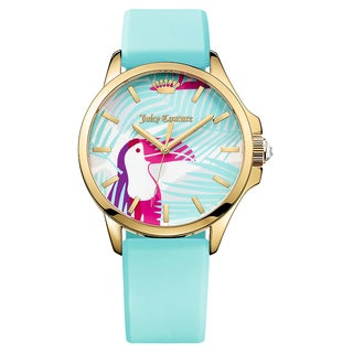 Juicy Couture Women's Jetsetter Rubber Strap Japanese Quartz Movement Toucan Design Watch