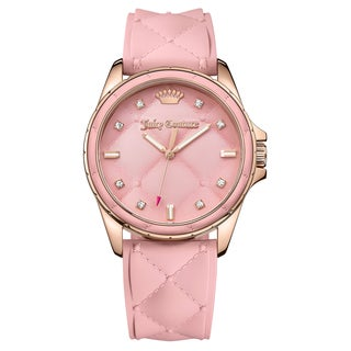 Juicy Couture Women's Malibu 1901371 Pink Rubber Strap Watch