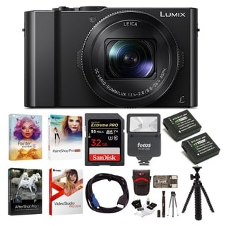 Panasonic LUMIX 4K Digital Camera w/ 64GB SD Card & Corel Suite Bundle