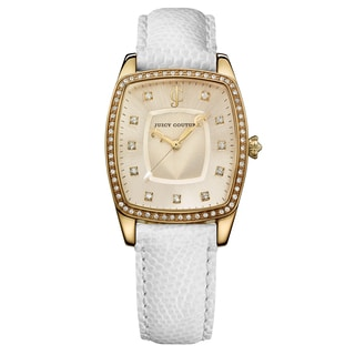 Juicy Couture The Beau White Leather Women's Watch