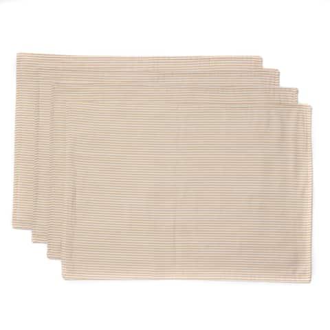 Cottage Home Cape Cod Stripe Cotton 14 x 20 Placemats (Case of 4)