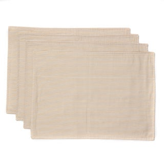 Cape Cod Seersucker Taupe Stripe Placemat (Set of 4)