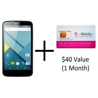 BLU Studio G D790u GSM Unlocked + T-Mobile SIM Kit w/ $40 Value