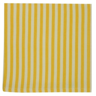 Canary Yellow Petite Stripe Napkin Set of 6