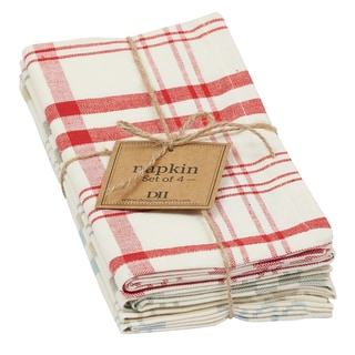Market Plaid Napkin Set of 4