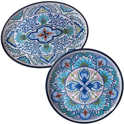 Certified International Nancy Green 'Talavera' Floral Platters (Set of 2)