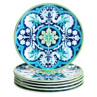 Certified International Granada Blue Melamine Salad Plates (Pack of 6)