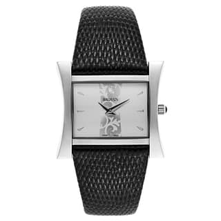 Balmain Chic Fashion Black Leather and Stainless Steel Women's Watch|https://ak1.ostkcdn.com/images/products/14200345/P20795624.jpg?impolicy=medium