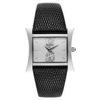 Balmain Chic Fashion Black Leather and Stainless Steel Women's Watch