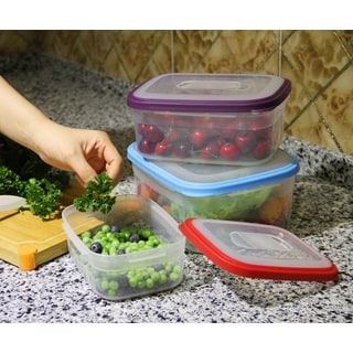 6-piece BPA Free Multi-color Food Storage Container Set