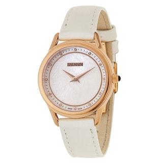 Balmain Maestria White Satin Leather Women's Watch