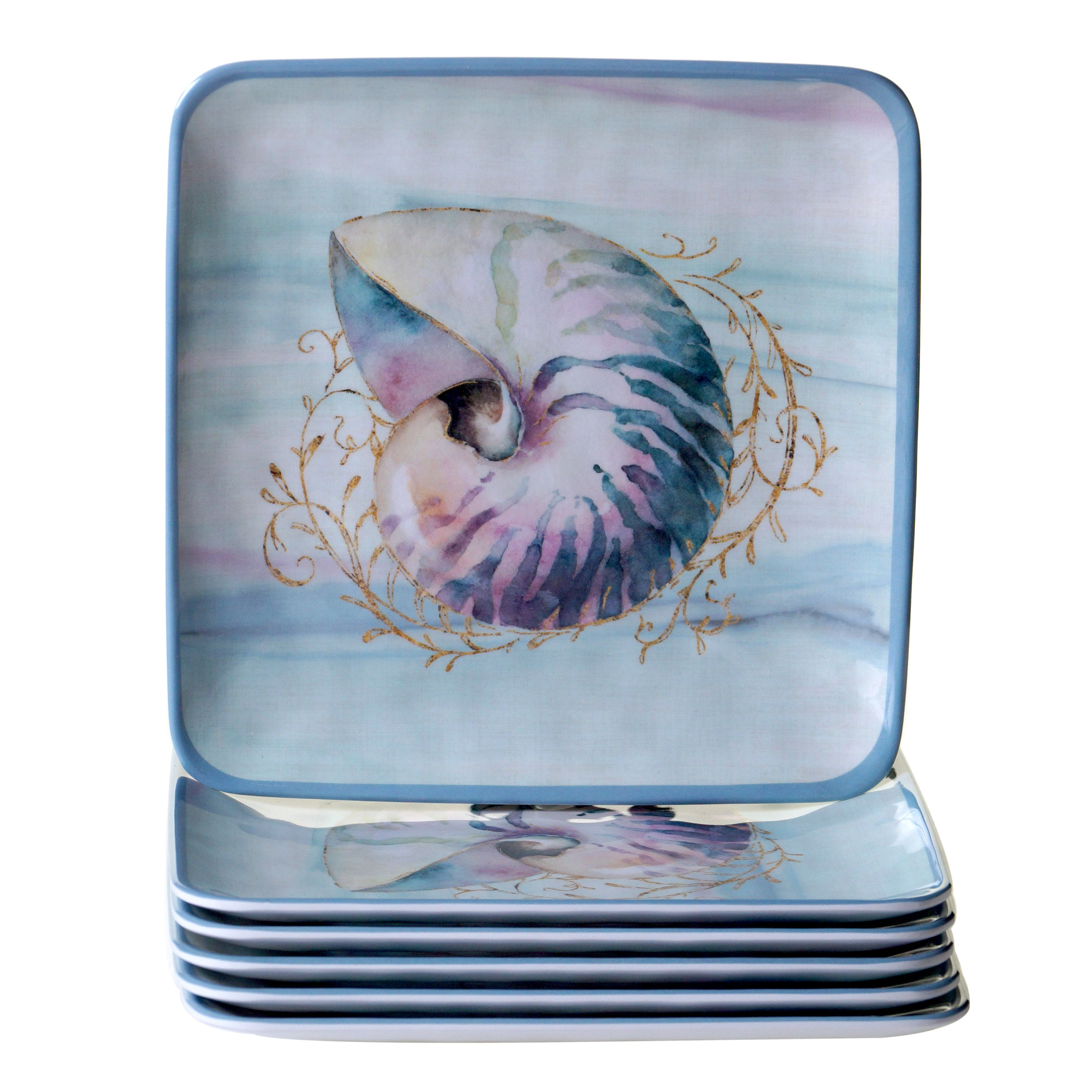 Certified Intl Ocean Dream Salad Plates (Set of 6) (Salad...