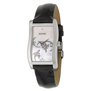 Balmain Vela Black Leather and Stainless Steel Women's Watch