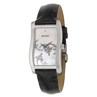 Balmain Vela Black Leather and Stainless Steel Women's Watch|https://ak1.ostkcdn.com/images/products/14200386/P20795636.jpg?impolicy=medium