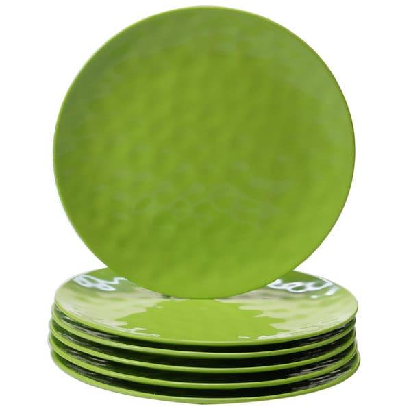 Certified International Green Melamine 11-inch Dinner Plates (Pack of 6)