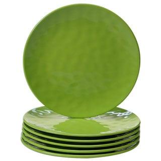 Certified International Green Melamine Salad Plates (Set of 6)