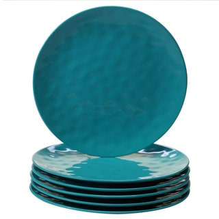 Link to Certified International Teal Melamine Dinner Plates (Set of 6) Similar Items in Dinnerware