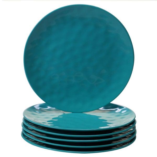 Certified International Teal Melamine Dinner Plates (Set Of 6) by Certified International