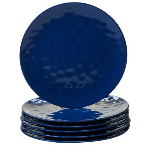 Certified International Cobalt Blue Melamine Dinner Plates (Pack of 6)
