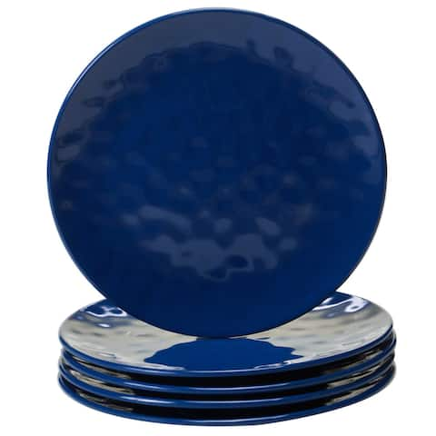 Certified International Solid Cobalt Blue Salad Plates, Set of 6