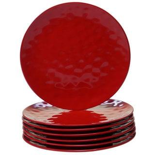 Link to Certified International Red Melamine Dinner Plates (Pack of 6) Similar Items in Dinnerware