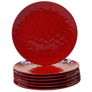 Certified International Red Melamine Dinner Plates (Pack of 6)