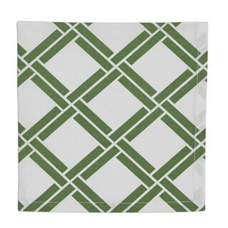 Bamboo Lattice Printed Napkin Set of 6