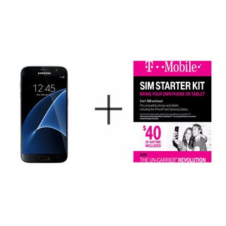 Samsung Galaxy S7 G930F 32GB Unlocked GSM 4G LTE Octa-Core Phone w/ 12MP Dual Pixel Camera + T-Mobile $40 SIM Kit