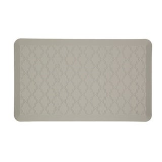 Mohawk Home Dri- Pro Comfort Mat Classic Lattice Gray Mat (1'6x2'6)