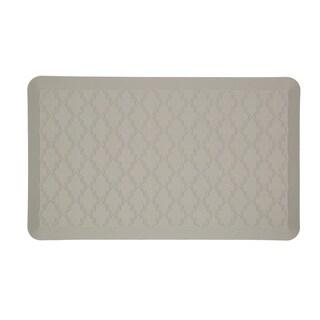 Mohawk Home Dri- Pro Comfort Mat Classic Lattice Gray Mat (1'6x2'6) (As Is Item)