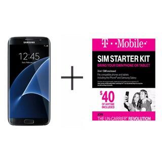 Samsung Galaxy S7 Edge G935F 32GB Unlocked GSM 4G LTE Octa-Core Phone w/ 12MP Dual Pixel Camera + T-Mobile $40 SIM Kit