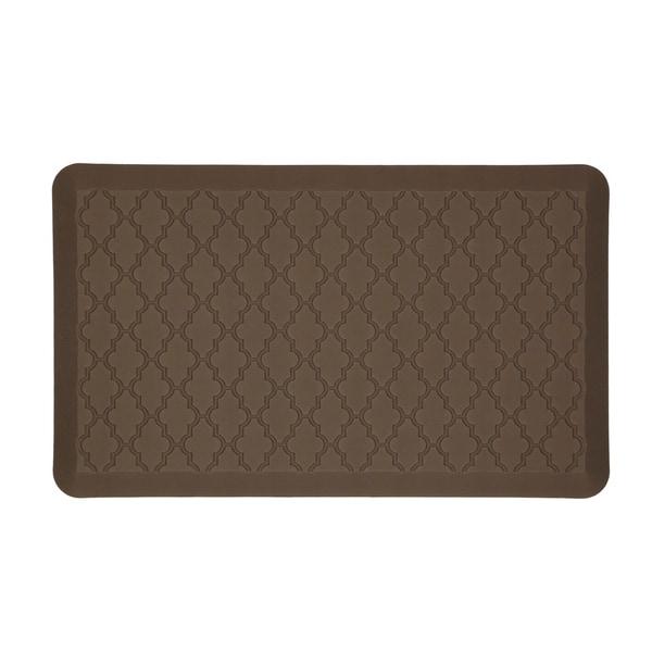 Mohawk Home Dri- Pro Comfort Mat Classic Lattice Brown Mat (1'6x2'6)