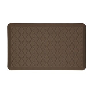 Mohawk Home Dri- Pro Comfort Mat Classic Lattice Brown Mat (1'6x2'6)