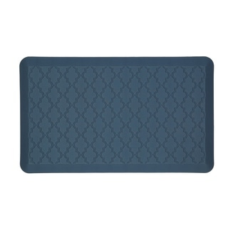 Mohawk Home Dri- Pro Comfort Mat Classic Lattice Blue Mat (1'6x2'6)