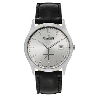 Charmex Ascot Men's 2490 Stainless Steel and Leather Watch
