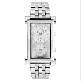 Charmex Men's Cosmopolitan 1900 Silvertone Stainless Steel Watch