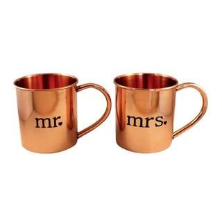 Alchemade Mr. and Mrs. Mugs Copper Mugs (Set of 2)