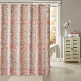 pale pink shower curtain. Palm Canyon Anzuelo Coral Cotton Printed Shower Curtain Pink Curtains For Less  Overstock Vibrant Fabric Bath