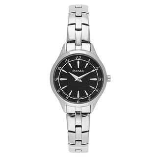 Pulsar Business Black and Silvertone Stainless Steel Women's Watch