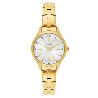 Pulsar Business Gold-plated Stainless Steel Women's Watch|https://ak1.ostkcdn.com/images/products/14200529/P20795736.jpg?impolicy=medium