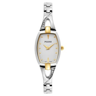 Pulsar Crystal Women's Silvertone Crystal Watch