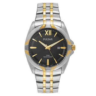 Pulsar Easy Style 2-tone Stainless Steel Men's Watch|https://ak1.ostkcdn.com/images/products/14200532/P20795739.jpg?impolicy=medium
