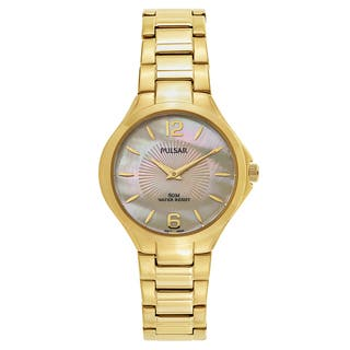 Pulsar Night Out Women's PM2222 Goldplated Watch|https://ak1.ostkcdn.com/images/products/14200540/P20795746.jpg?impolicy=medium